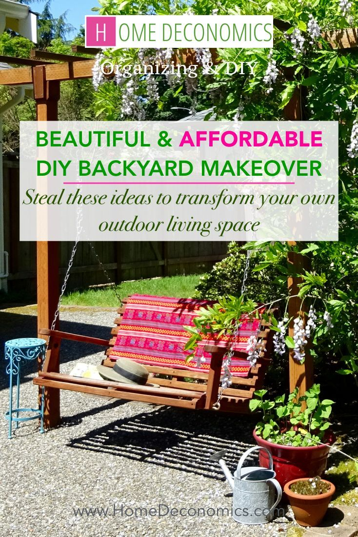 This DIY backyard makeover transformed an outdoor living space from  overgrown to gorgeous, on a - This DIY Backyard Makeover Transformed An Outdoor Living Space From
