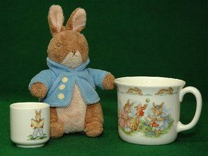 Royal Doulton Bunnykins childrens MUG, EGGcup and a Peter Rabbit | eBay