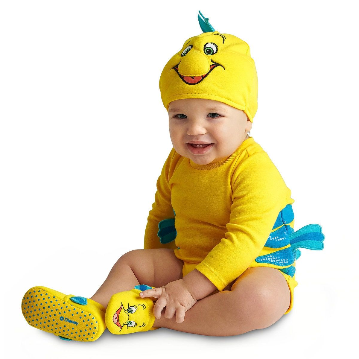 e3b6f8e35ded Flounder Costume Bodysuit Collection for Baby - The Little Mermaid ...