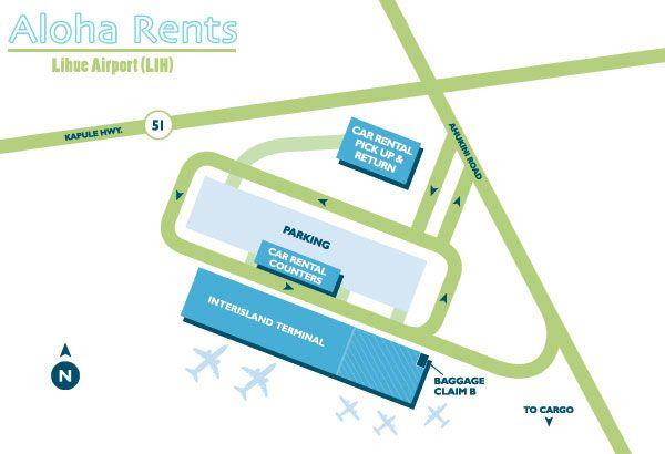 51b3808c35 LIH Lihue Airport Map