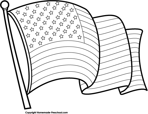 Free American Flag Black And White Waving, Download Free Clip Art, Free Clip  Art on Clipart Library
