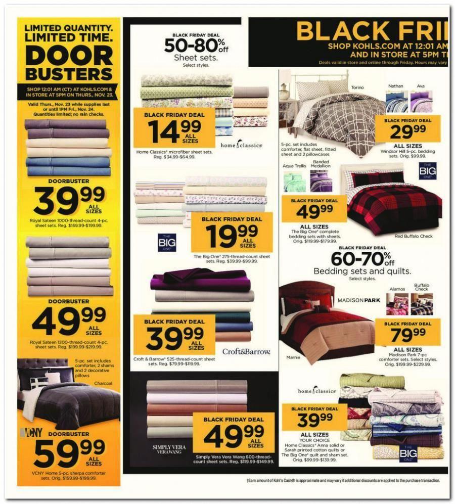 Kohl S Best Black Friday Deals On Bed Sheets And Mattress Kohls Black Friday Ad Kohls Black Friday Hour Kohls Black Friday Black Friday Black Friday Target