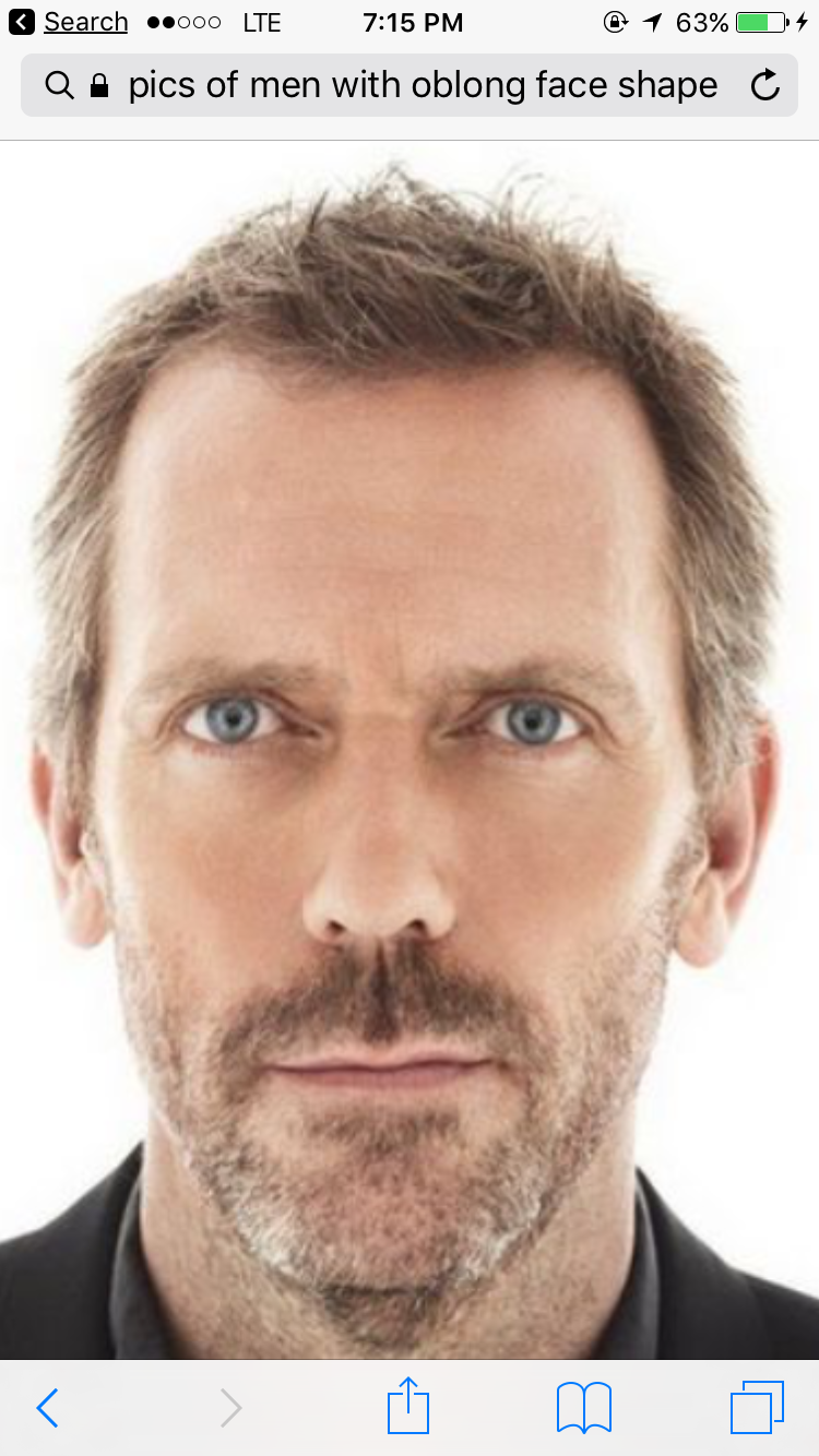 face shape - oblong | men's face shape in 2019 | older mens