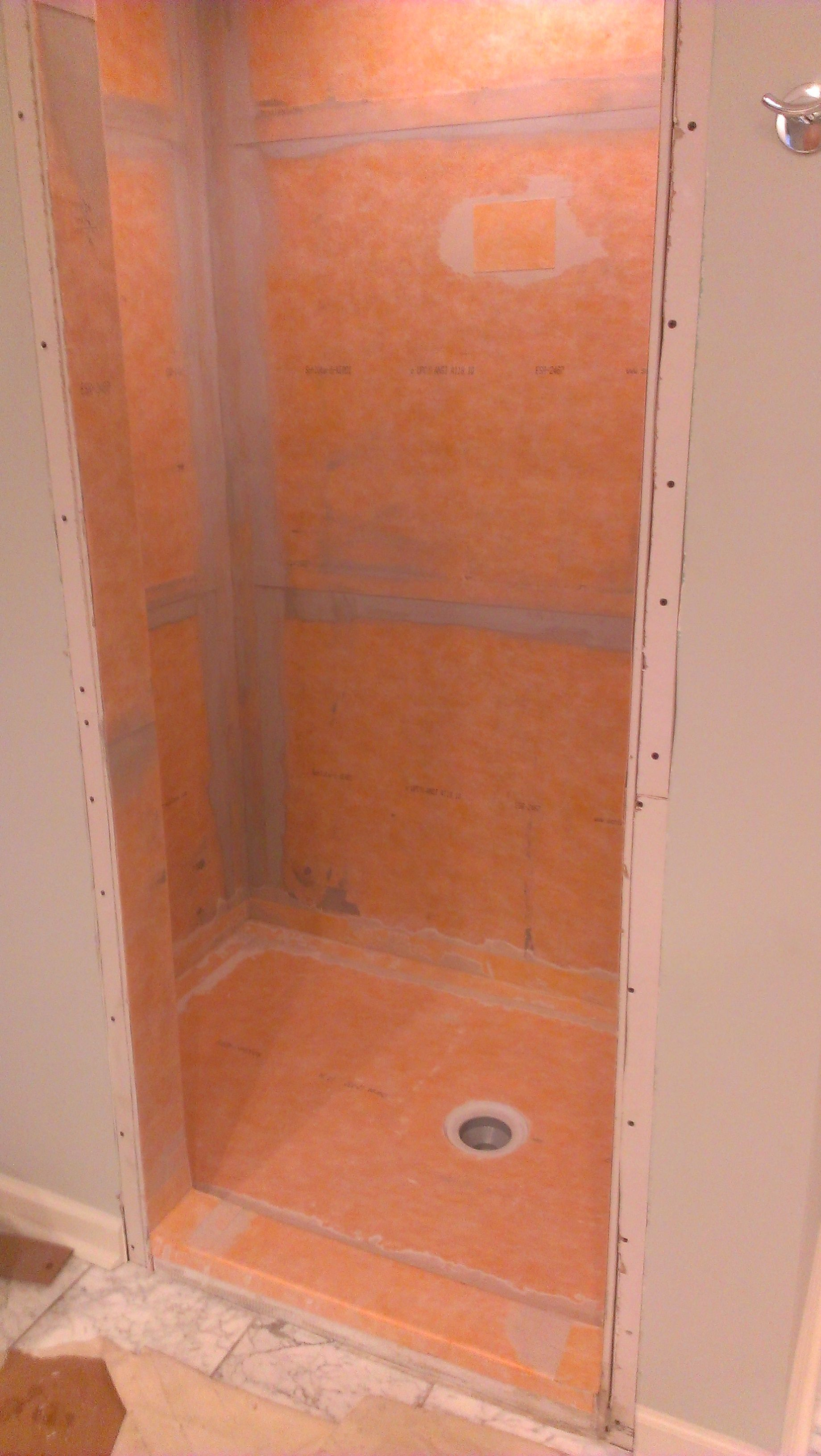 The Schluter Kerdi Waterproofing System For A Tile Shower Shower Remodel Tile Bathroom Bathroom
