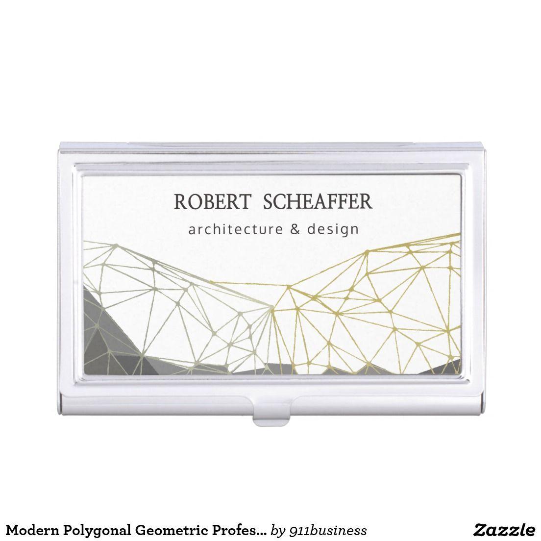 Modern Polygonal Geometric Professional Pattern Business Card ...