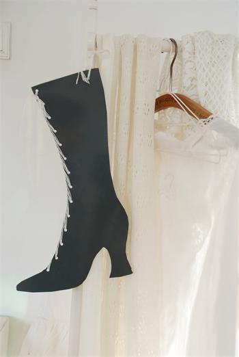 Støvle, zink støvle, boligindretning, brugskunst, fransk vintage landstil.
