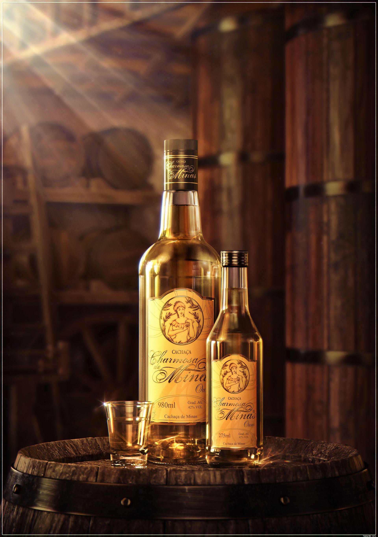 Cachaca Bottles Rendered In Keyshot By Leonardo Reis Bottle Packaging Bottle Whiskey Bottle