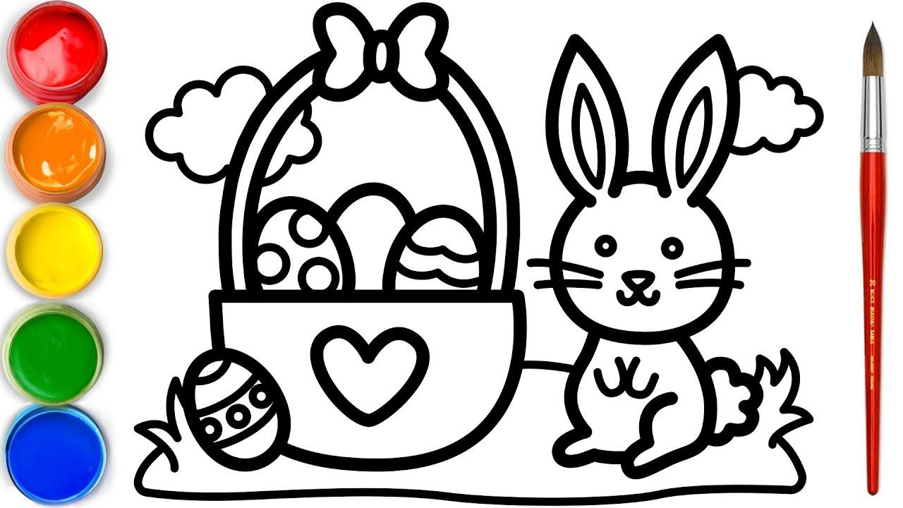 Cute Bunny Coloring And Drawing Coloring Pages Coloring Pages For Kids Coloring Videos Col Easter Bunny Colouring Coloring For Kids How To Make Drawing