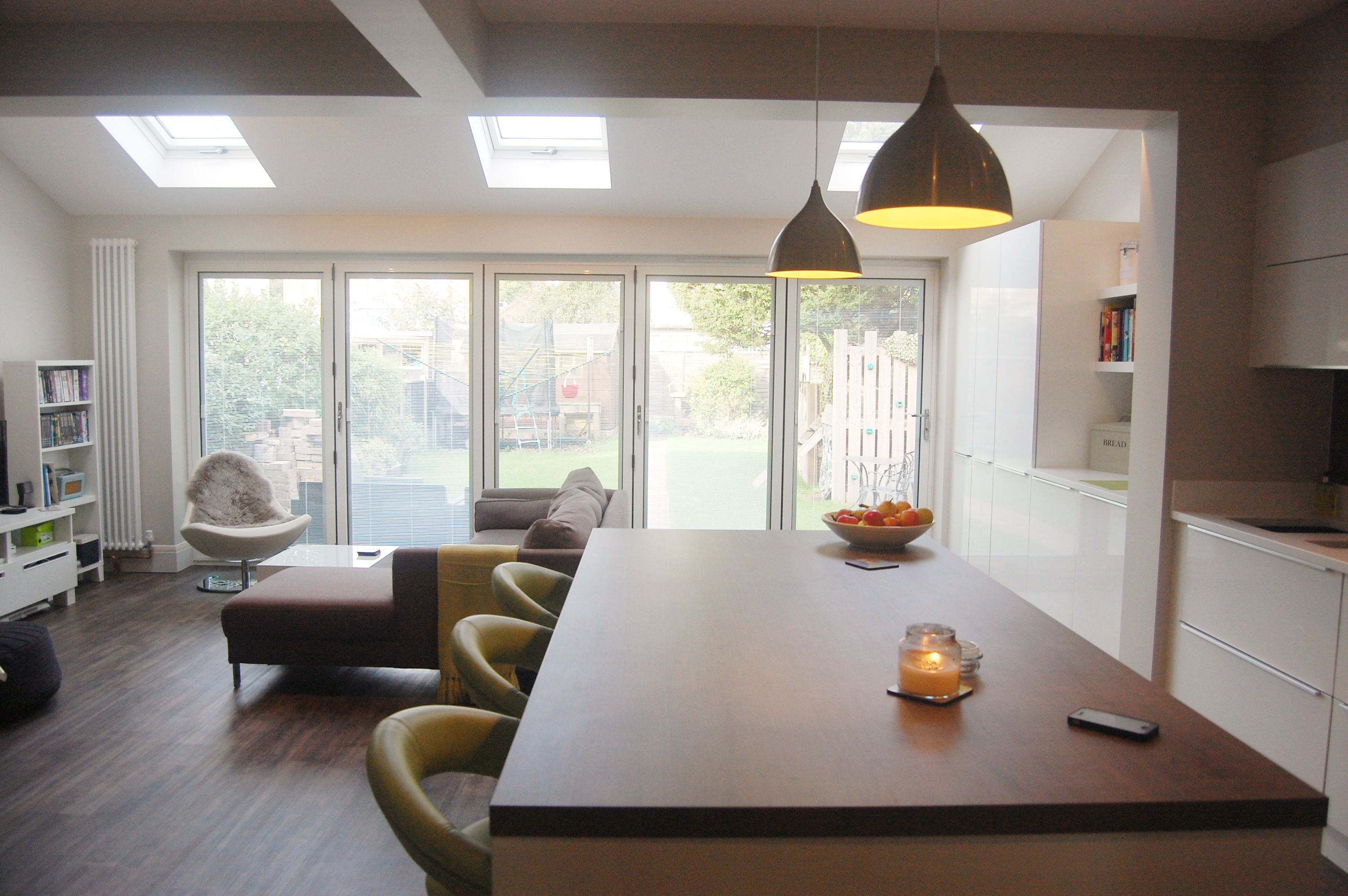 semi detached extension kitchen living - Google Search | Skylights ...