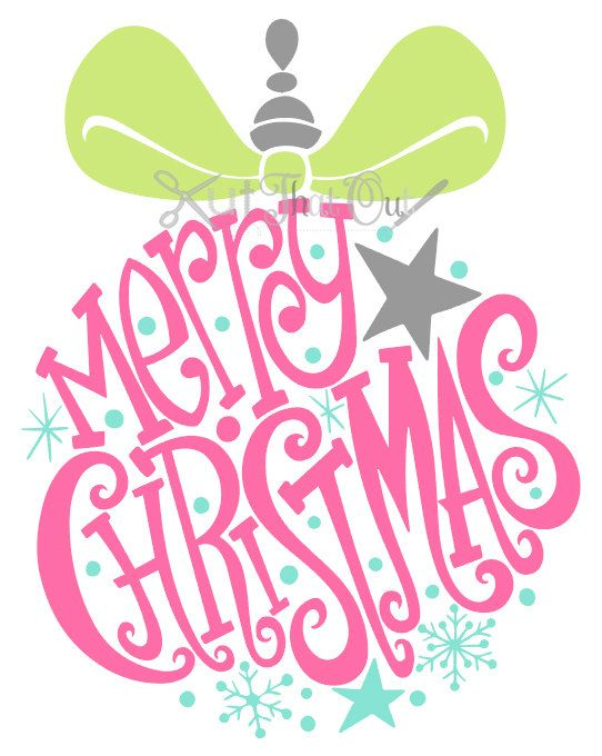EXCLUSIVE Merry Christmas Ornament SVG and DXF File | Christmas ...