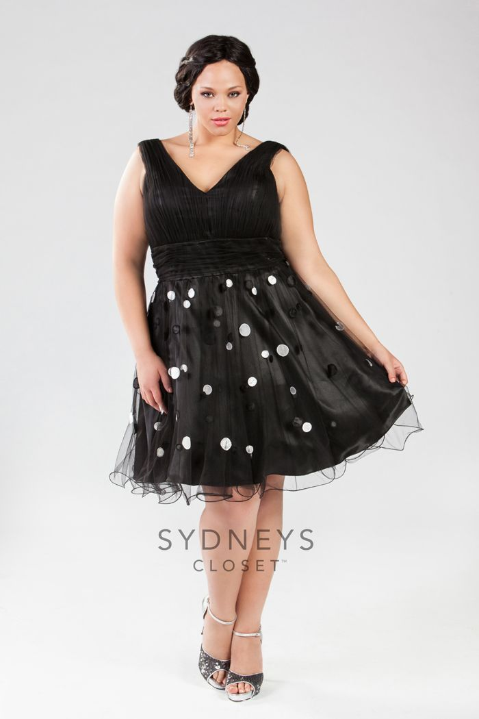 Oh So Flirty Black Plus Size Party Dress Is Great For A Night Out