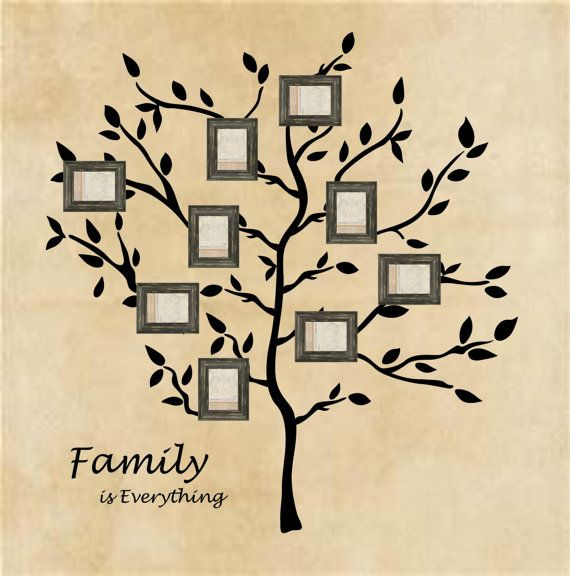 Family Tree Wall Decal Branches Wall Words | Wall words, Wall decals ...