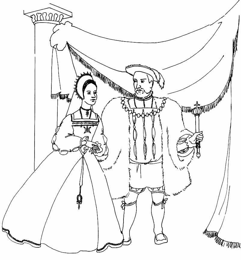 Medieval Queen Coloring Pages