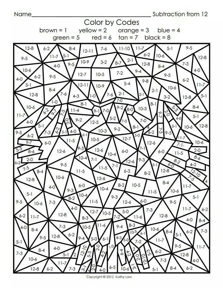 Pin de Bender SER en Öğrenci | Pinterest | Math, Numbers y Coloring ...