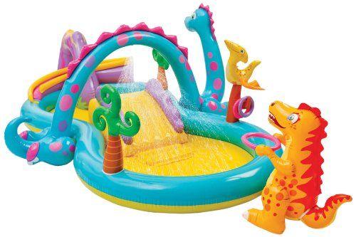 Amazon Com Intex Dinoland Play Center Toys Games Kid Pool Children Swimming Pool Inflatable Pool