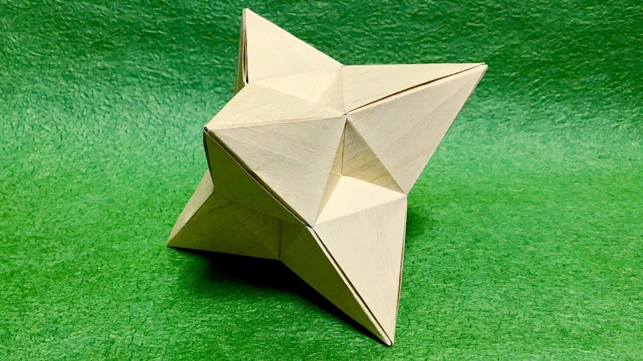 折り紙 なんかカッコイイ立体を折ってみた 折り方 お札折り紙 折り紙 ユニット折り紙