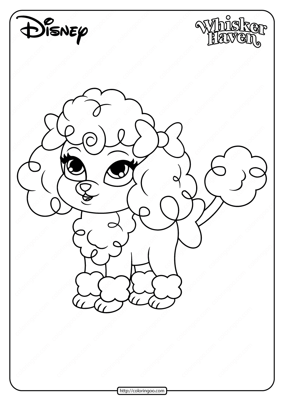 Printable Palace Pets Lacy Pdf Coloring Pages In 2020 Disney Coloring Pages Dog Coloring Page Princess Palace Pets