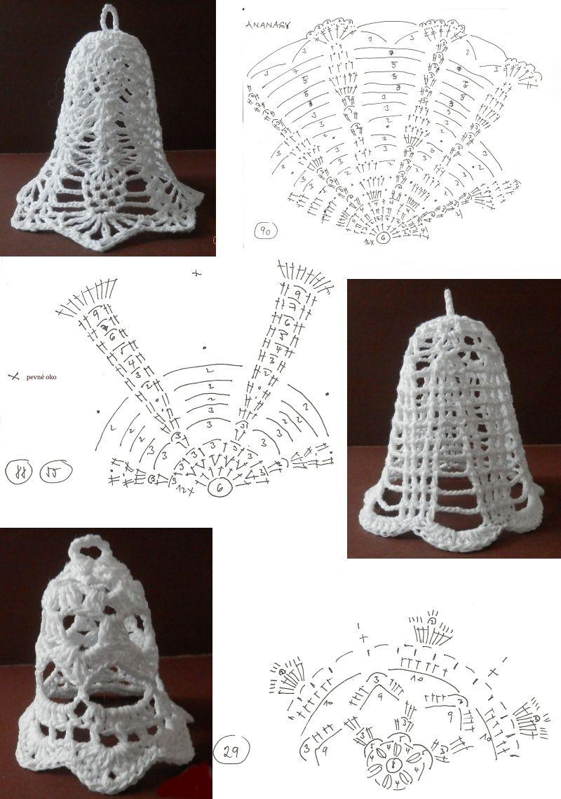 zvoneček 73 | DIY Ideas | Pinterest | Navidad, Ganchillo y Adornos