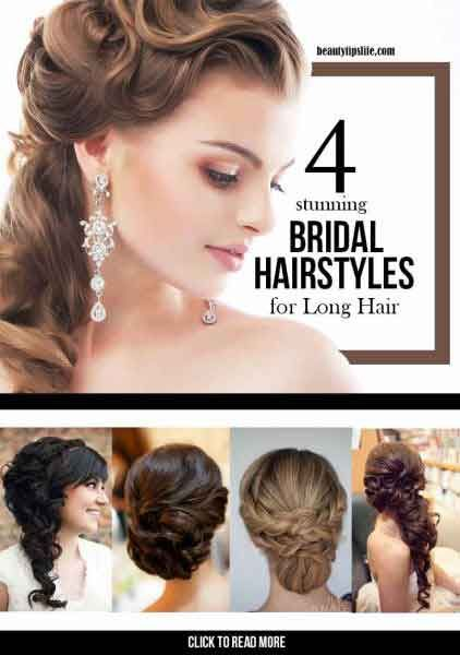 4 Stunning Bridal Hairstyles For Long Hair Fit For A Princess
