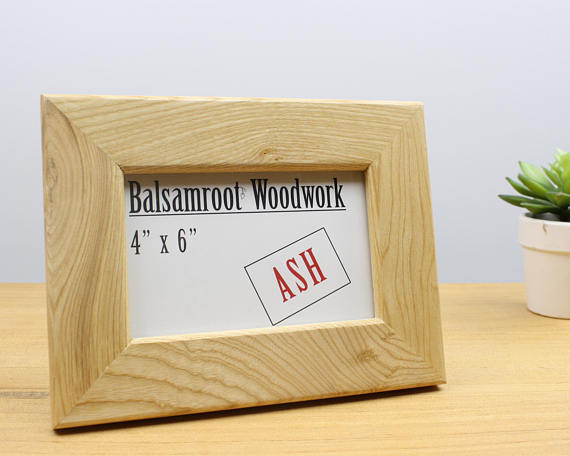4x6 picture frame, ash wood photo frame, 4x6 frame, wood picture ...