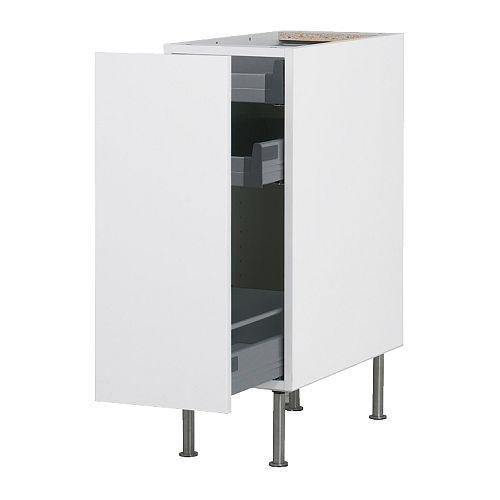 faktum alapszekrény kihúzható tárolóval - abstrakt fehér, 30 cm