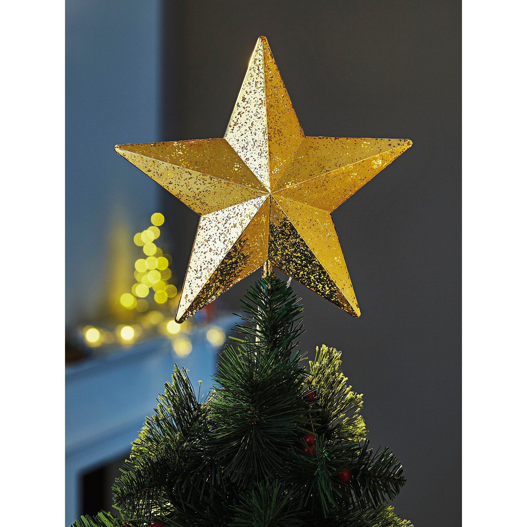 Gold Toned Led Twinkling Star Christmas Tree Topper Christmas George Christmas Tree Decorations Christmas Tree Toppers Tree Decorations
