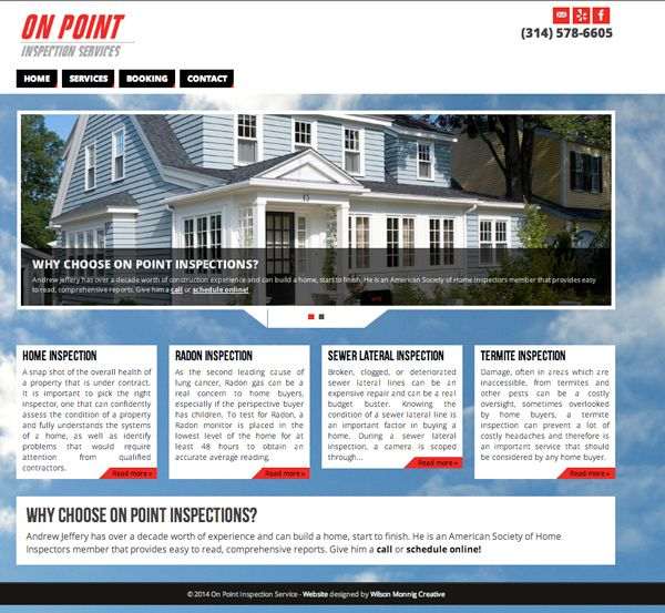 On Point Home Inspections Website Design Real Estate Creative