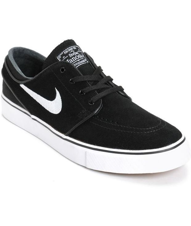 cb8ce92b084 Nike SB Zoom Stefan Janoski Black   White Skate Shoes