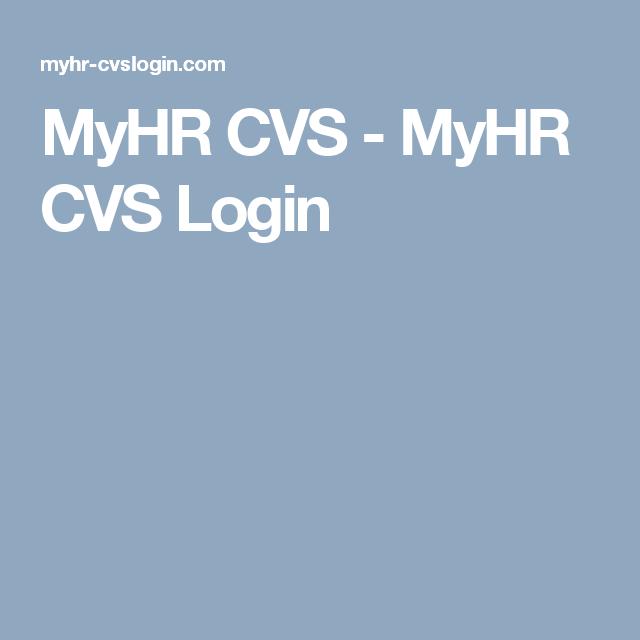 MyHR CVS - MyHR CVS Login | MyHR CVS | Accounting