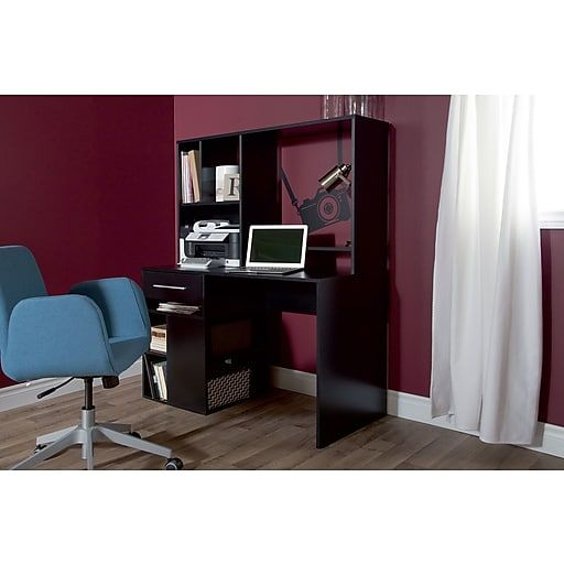 Annexe Home Office Computer Desk, Pure Black At Staples
