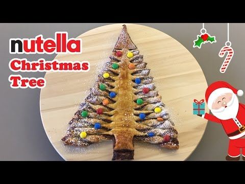 how to make christmas tree nutellagood nutella snackseasy nutella snack recipesnutella snack idea youtube