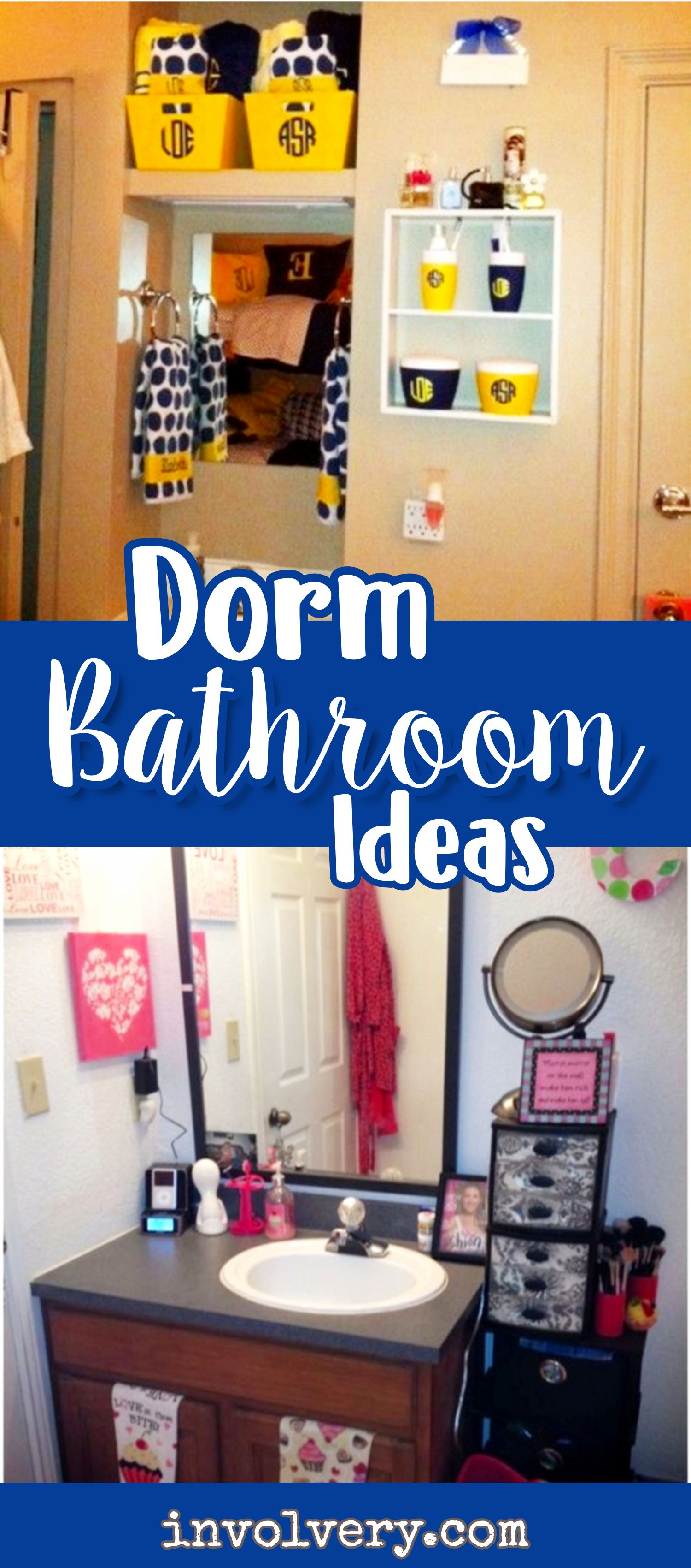 Room  C B College Dorm Bathroom Decorating Ideas Organizing Tips
