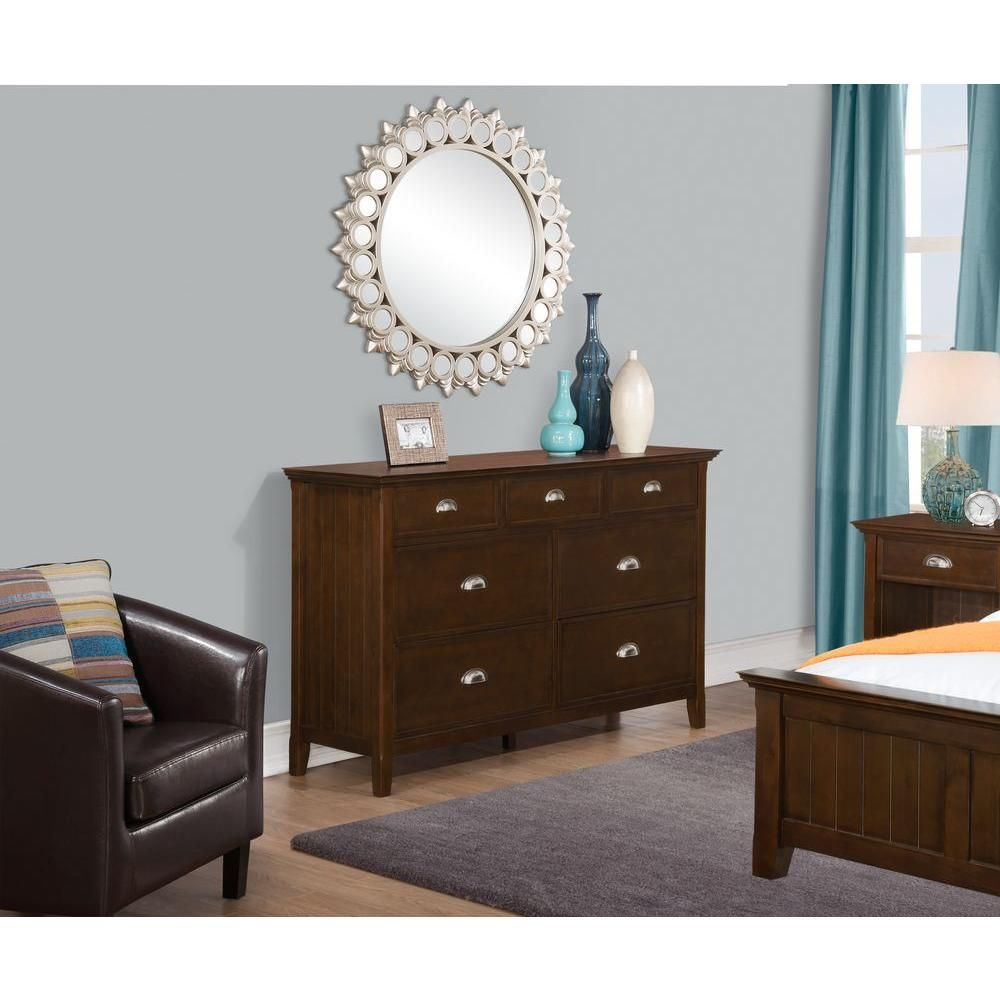 Acadian drawer tobacco brown dresser products