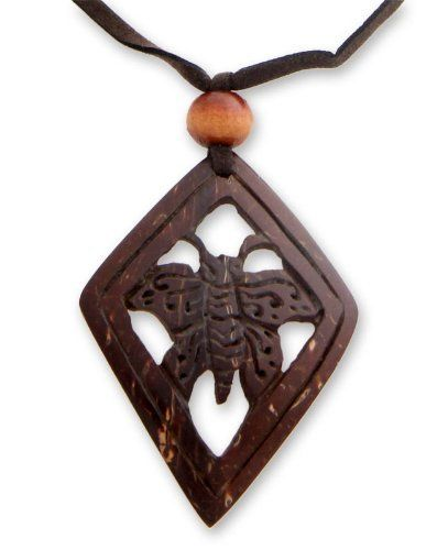 24 Bold Africa NOVICA Coconut Shell Pendant Necklace