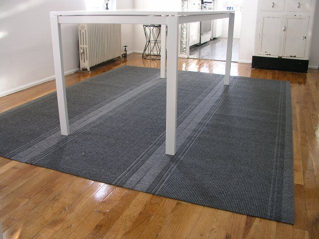 Inexpensive (cheap!) area rug for dining room floor - Home Depot rolled  carpet