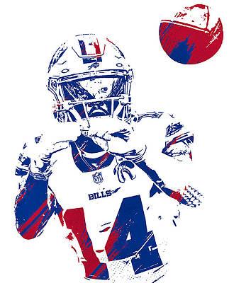 Buffalo Bills Wall Art Mixed Media Stefon Diggs Buffalo Bills Watercolor Strokes Pixel Art 2 By Joe Hamilton In 2021 Stefon Diggs Buffalo Bills Nfl Football Art