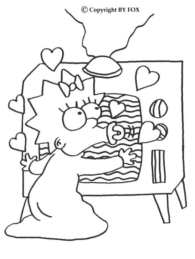 The Simpsons Coloring Pages Maggie And The Tv Coloring Pages Cute Coloring Pages Coloring Books