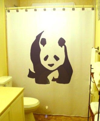 Panda Shower Curtain Bear Bathroom Decor Extra Long Fabric Shower Curtains 84 90 96 Inch Custom Stall Size 36 54 78 With Images Bear Bathroom Decor Novelty Shower Curtains Kid Bathroom Decor