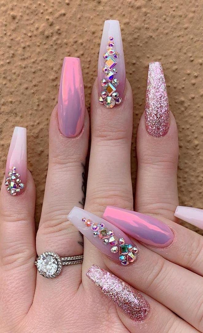 49++ Nail designs with diamonds ideas ideas