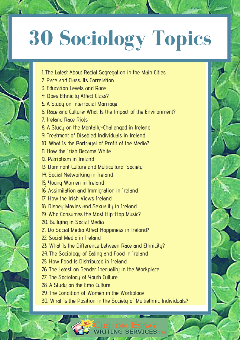 Interesting Sociology Research Topics In Ireland Sociology Sociology Topics What Is Sociology
