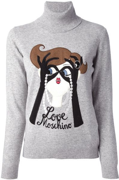 Love this Love Moschino Appliqué Sweater @Lyst