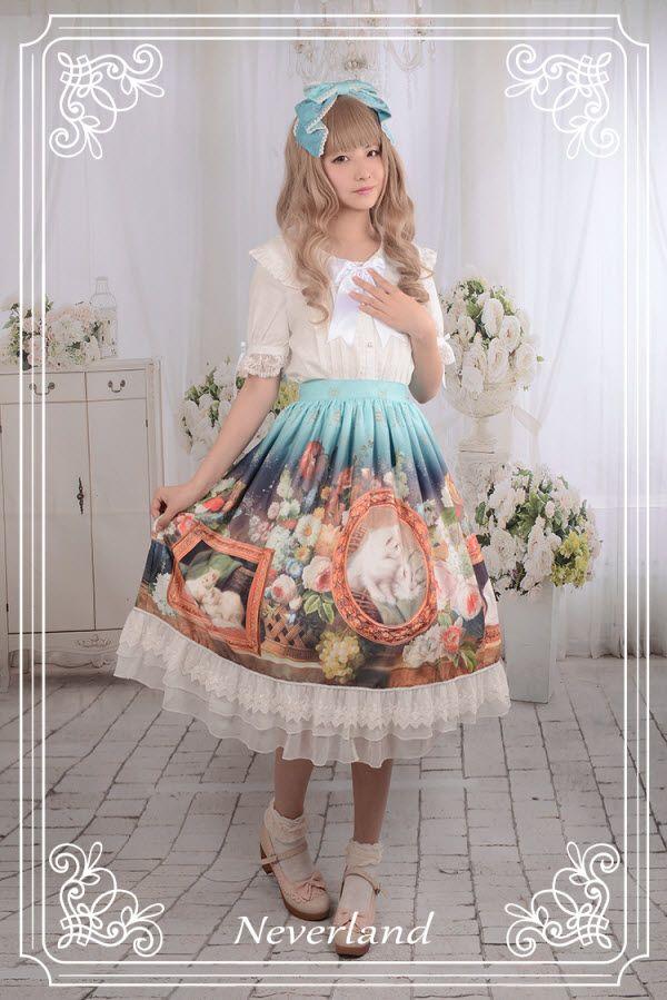#LolitaUpdate: Neverland Lolita [-✌-Cats in My Courtyard-✌-] Lolita Skirt…