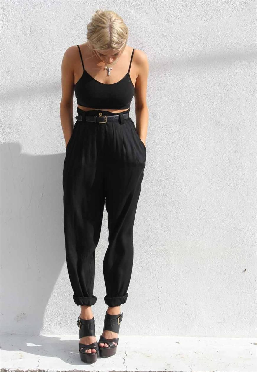 Fashion week How to high wear waisted harem pants for girls