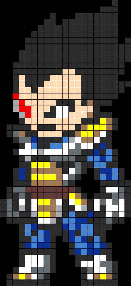 Vegeta Perler Bead Pattern Cross Stitch Maybe Paper Pixel