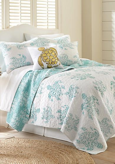 Elise James Home Aliyah Reversible Quilt Collection Coastal