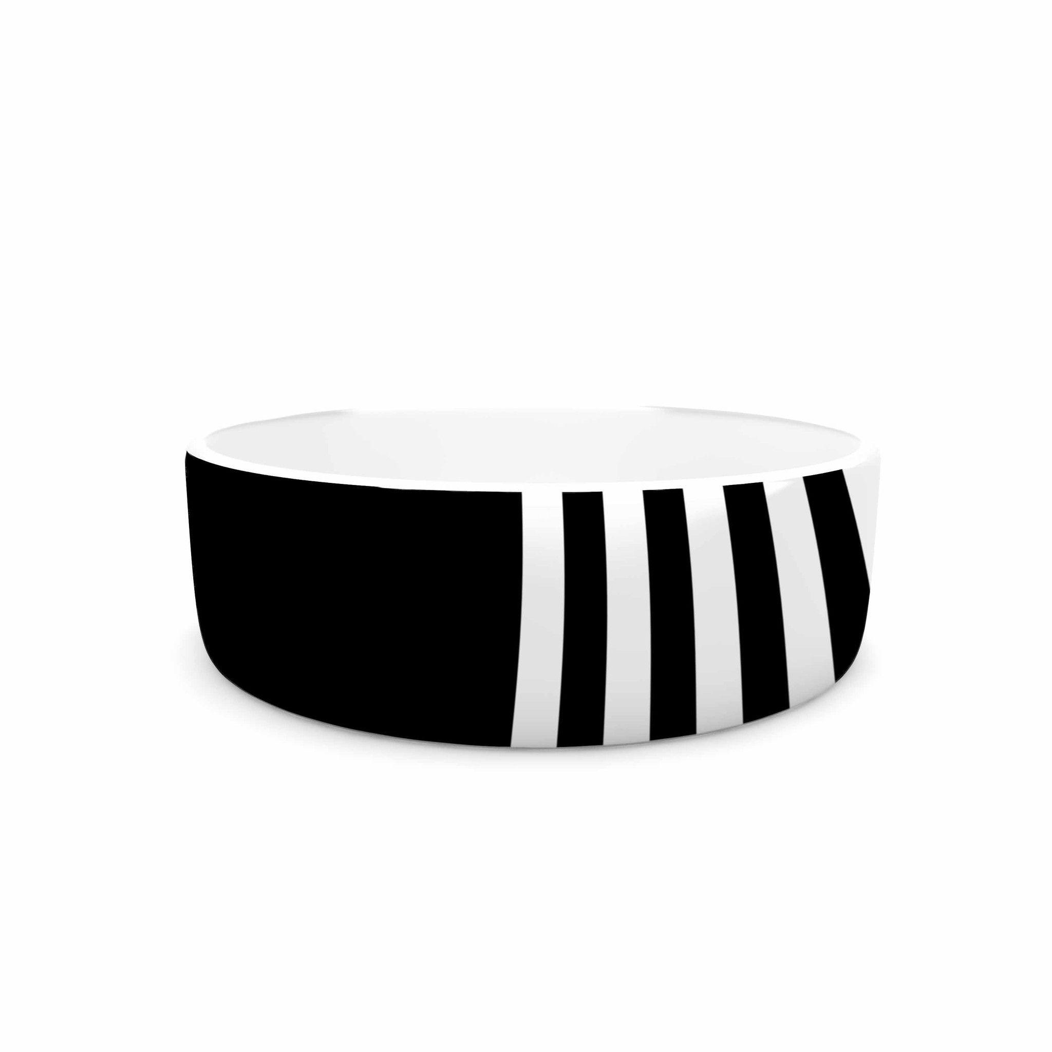 "Trebam ""Roletna"" Black White Pet Bowl"