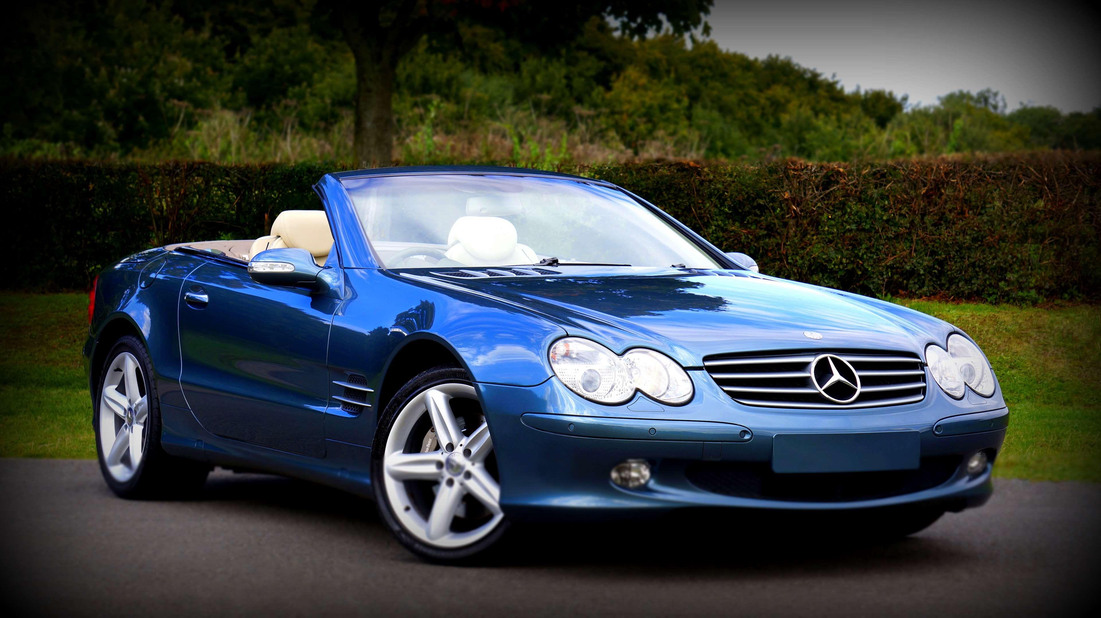 #blue #car #class #classic car #convertible #fast #mercedes benz #sl500 #speed #…
