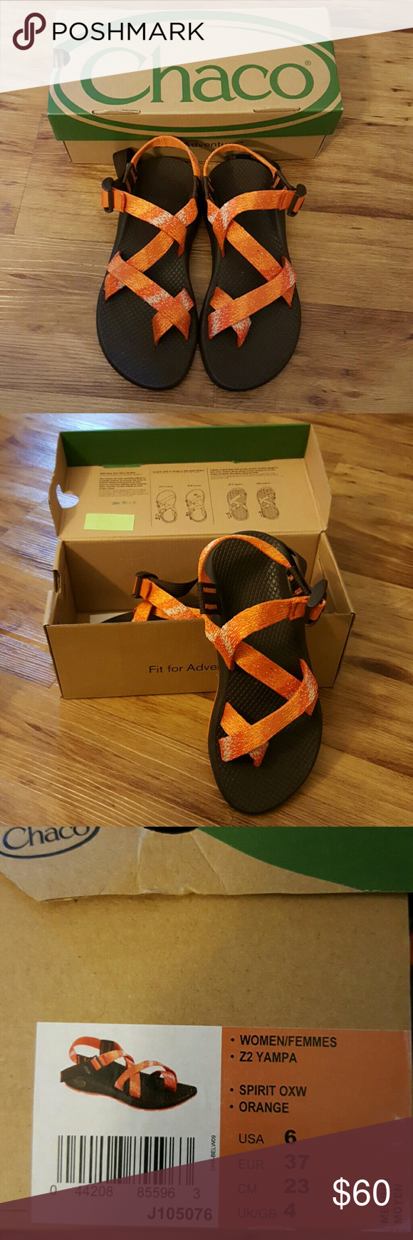 Chacos Sandals Classic Chacos Sandals! Never worn, brand new!! Women's Z2 Yampa Orange US 6 Chaco Shoes Sandals
