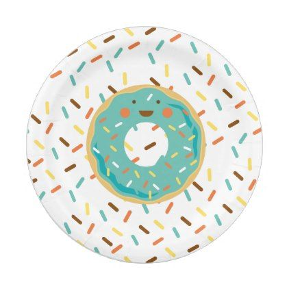 Donut Birthday Paper Plates - giftidea gift present idea one first bday birthday 1stbirthday party 1st  sc 1 st  Pinterest & Donut Birthday Paper Plates - giftidea gift present idea one first ...