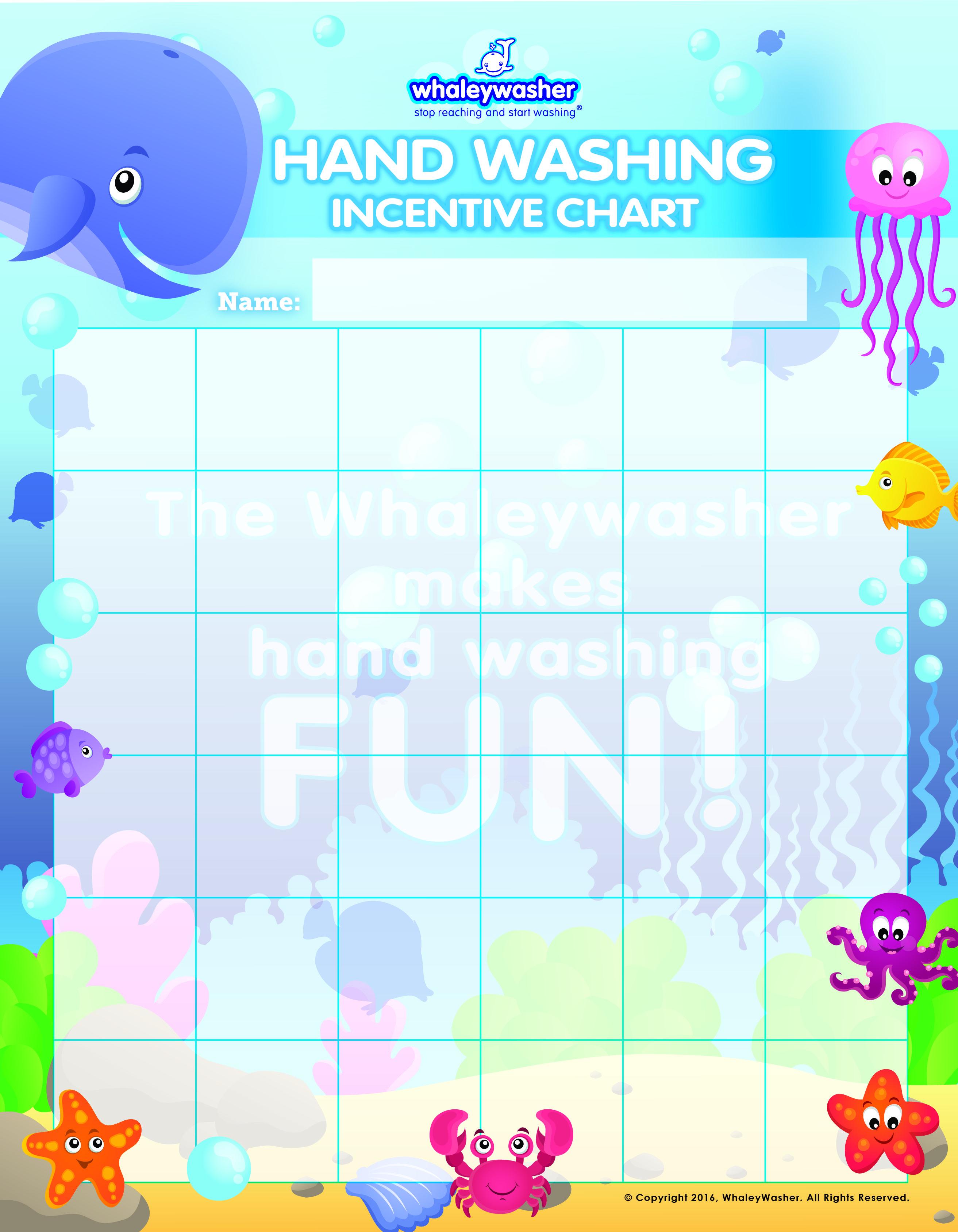 Whaleywasher Hand Washing Incentive Chart Whaleywasher